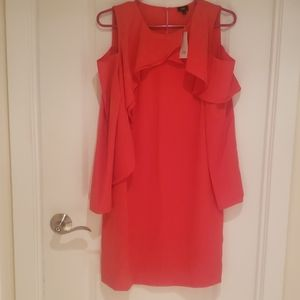 NWT Cut out shoulder flared dress